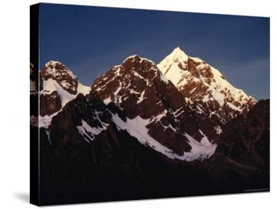 Mountain Peak with Snow, Puno, Vilcanota, Cuzco, Peru-Richard I'Anson-Stretched Canvas Print