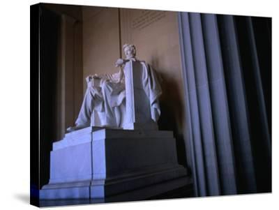 Lincoln Memorial Statue, Washington Dc, USA-Rick Gerharter-Stretched Canvas Print