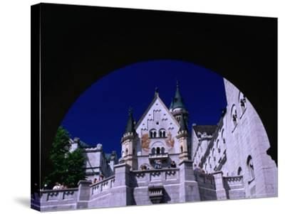 King Ludwig II's Neuschwanstein Castle, Fussen, Bavaria, Germany-Johnson Dennis-Stretched Canvas Print