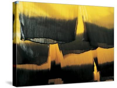 Hanging Cloths, Marrakesh, Morocco, North Africa-Peter Adams-Stretched Canvas Print