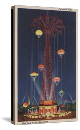 New York City, NY - Parachute Jump at World's Fair-Lantern Press-Stretched Canvas Print