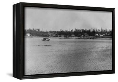 Lopez Island, WA - San Juan Islands View Photograph-Lantern Press-Framed Stretched Canvas Print