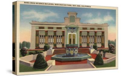 San Jose, California - Rosicrucian Park, Rose-Croix Sciene Bldg-Lantern Press-Stretched Canvas Print