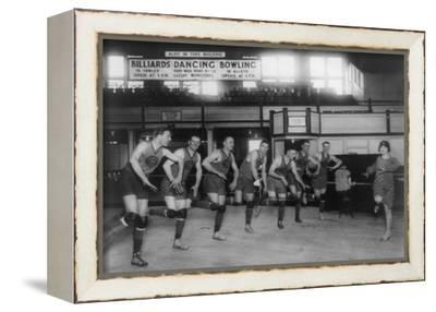 Basketball Team Learns to Dance Photograph - Washington, DC-Lantern Press-Framed Stretched Canvas Print