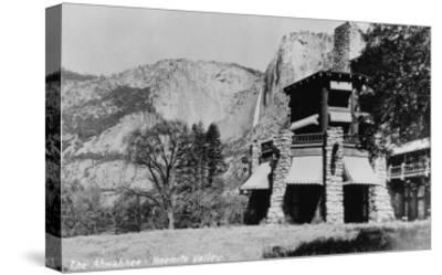 Yosemite, CA - The Ahwahnee Lodge and Valley Photo-Lantern Press-Stretched Canvas Print