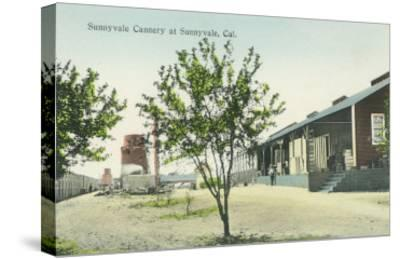 Exterior View of the Sunnyvale Cannery - Sunnyvale, CA-Lantern Press-Stretched Canvas Print