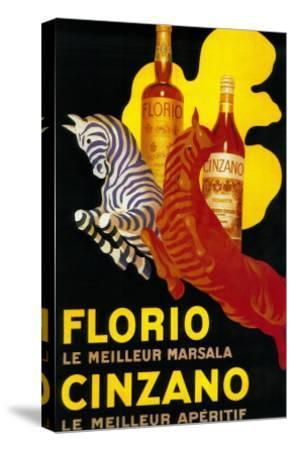 Florio Cinzano Vintage Poster - Europe-Lantern Press-Stretched Canvas Print