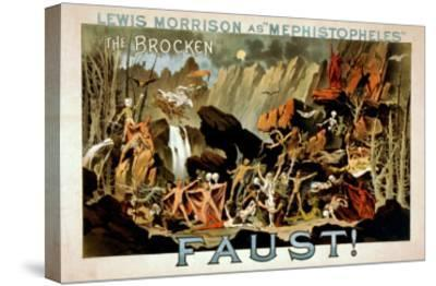 Faust Musical Theatre Poster-Lantern Press-Stretched Canvas Print