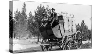 Stagecoach on the Way to Walker Mine - Portola, CA-Lantern Press-Stretched Canvas Print