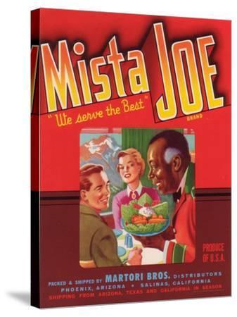 Mista Joe Vegetable Label - Phoenix, AZ-Lantern Press-Stretched Canvas Print