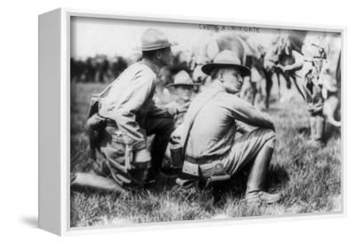 U.S. Soldiers during Mexican Revolution 2 Photograph-Lantern Press-Framed Stretched Canvas Print