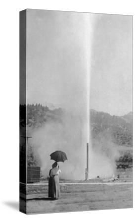 View of the Myrtledale Geyser - Calistoga, CA-Lantern Press-Stretched Canvas Print