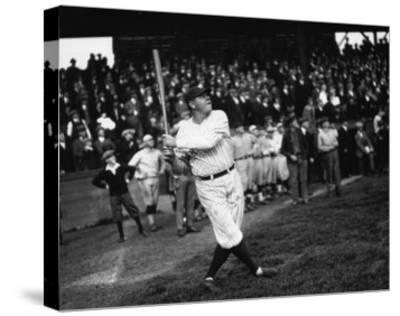 Babe Ruth at Dugdale Photograph - Seattle, WA-Lantern Press-Stretched Canvas Print
