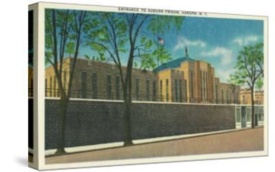 Auburn, New York - Entrance View to the Auburn Prison-Lantern Press-Stretched Canvas Print