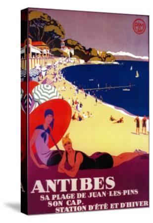 Antibes Vintage Poster - Europe-Lantern Press-Stretched Canvas Print