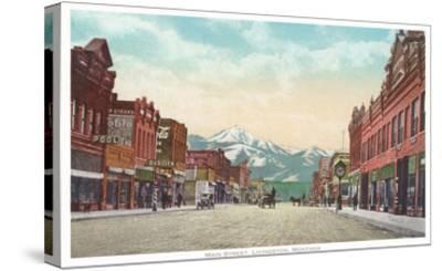 Main Street, Livingston, Montana--Stretched Canvas Print