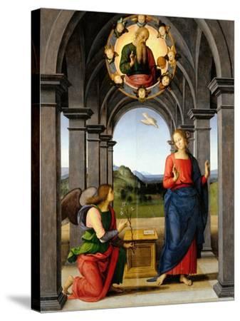Annunciation-Pietro Perugino-Stretched Canvas Print