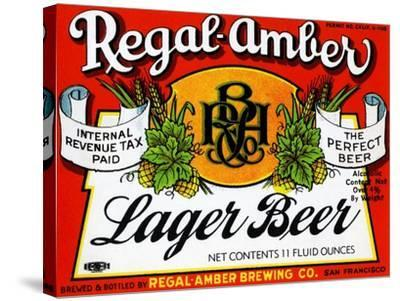 Regal-Amber Lager Beer--Stretched Canvas Print
