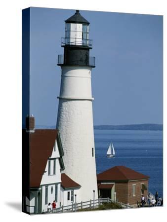 Portland Head Lighthouse on Cape Elizabeth-Rich Reid-Stretched Canvas Print