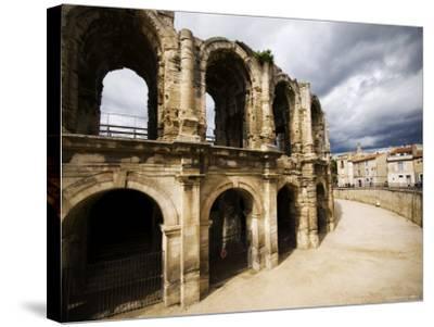 Roman Amphitheatre, Les Arenes-Glenn Beanland-Stretched Canvas Print