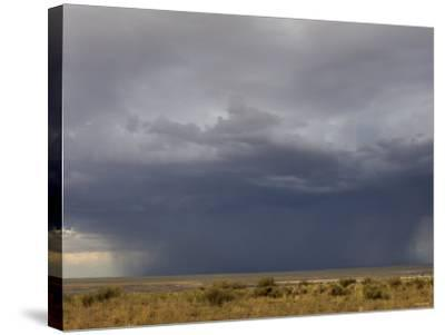 Rainstorm over the Arid Plains of the Four Corners Area, New Mexico--Stretched Canvas Print