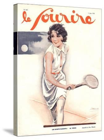 Le Sourire, Tennis Womens Magazine, France, 1930--Stretched Canvas Print