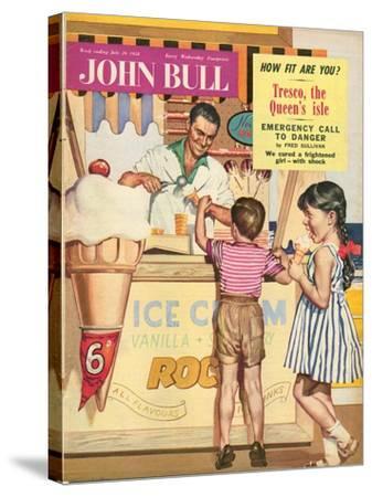 John Bull, Holiday Ice-Cream Magazine, UK, 1950--Stretched Canvas Print