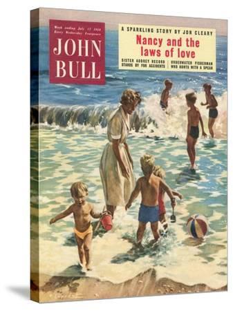 John Bull, Holiday Beaches, Paddling Inflatables, Beach Balls Magazine, UK, 1950--Stretched Canvas Print