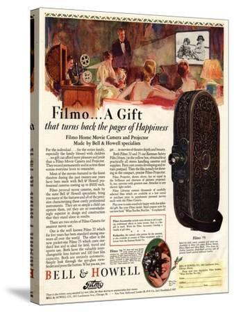 Cameras Cine Bell and Howell, USA, 1928--Stretched Canvas Print