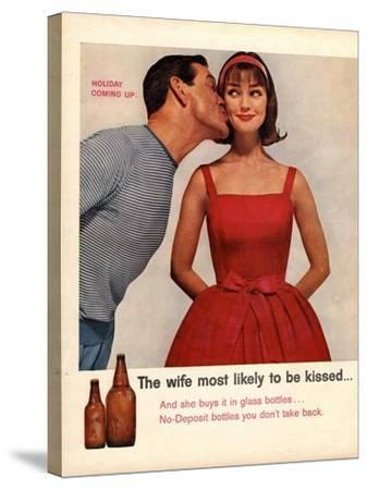 Kissing, Sex Discrimination, USA, 1950--Stretched Canvas Print