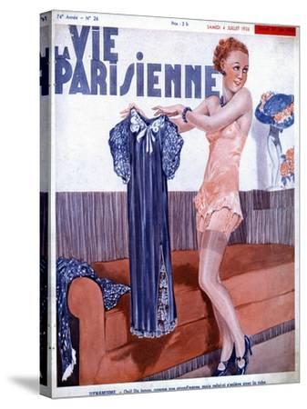 La Vie Parisienne, Dressing Underwear Erotica Magazine, France, 1936--Stretched Canvas Print