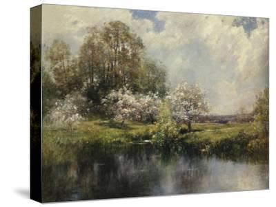 Apple Trees in Blossom-John Appleton Brown-Stretched Canvas Print