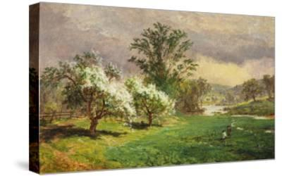 Apple Blossom Time, 1889-Jasper Francis Cropsey-Stretched Canvas Print