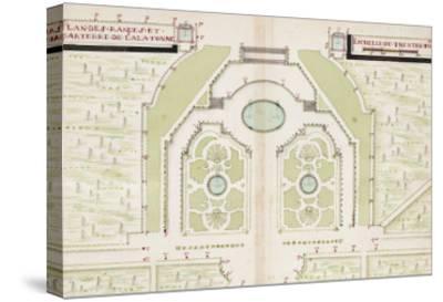 Versailles, Manuscript Plans of the Gardens of Versailles, c.1688-1711--Stretched Canvas Print