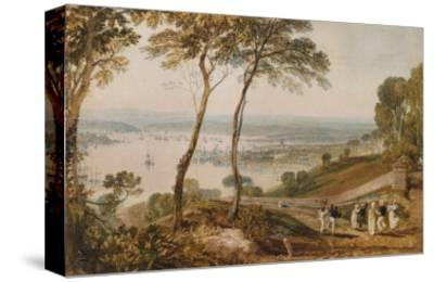 Plymouth Dock, from Near Mount Edgecumbe, 19th Century-J^ M^ W^ Turner-Stretched Canvas Print