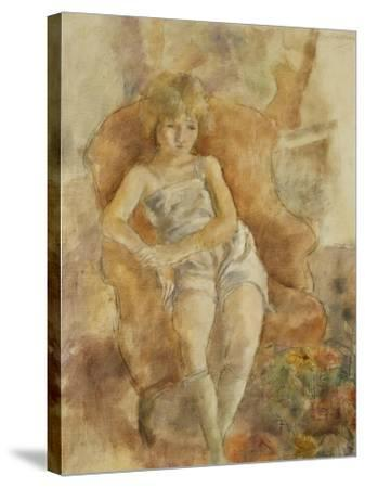 Young Boy Seated, Jeune Fils Assise-Jules Pascin-Stretched Canvas Print