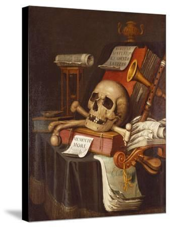 To Vanity, a Vanitas-Evert Collier-Stretched Canvas Print