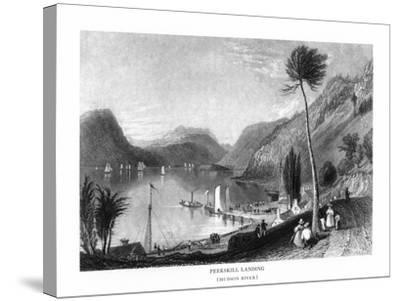 Peekskill, New York, View of the Hudson River from Peekskill Landing-Lantern Press-Stretched Canvas Print