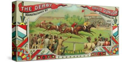 Petersburg, Virginia, The Derby Brand Tobacco Label-Lantern Press-Stretched Canvas Print