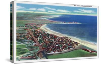 Hampton Beach, New Hampshire, Aerial View of the City-Lantern Press-Stretched Canvas Print