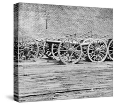 Richmond, VA, Captured Guns, Civil War-Lantern Press-Stretched Canvas Print