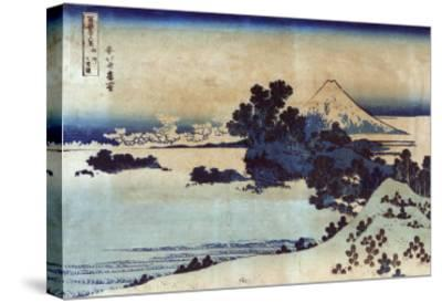 Landscape with Mount Fuji in the Background, Japanese Wood-Cut Print-Lantern Press-Stretched Canvas Print