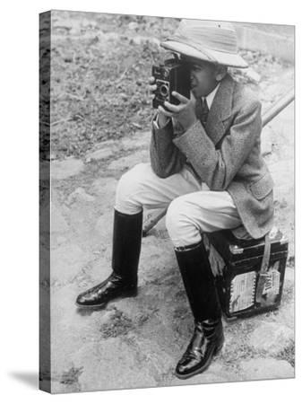 Young Man with a Brownie Camera-Alfred Eisenstaedt-Stretched Canvas Print