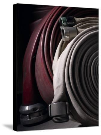 Coiled Fire Hoses--Stretched Canvas Print