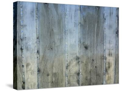 Close-Up of Background of Weathered Steel with Lines--Stretched Canvas Print
