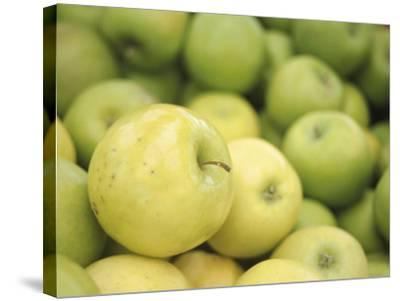 Pile of Fresh and Delicious Green Apples--Stretched Canvas Print