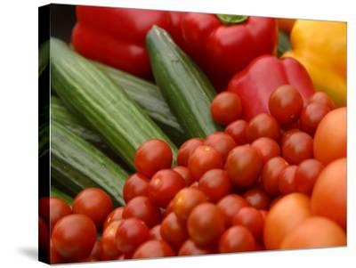 Pile of Delicious and Healthy Vegetables and Fruit--Stretched Canvas Print