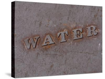 Water Manhole Cover--Stretched Canvas Print