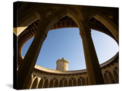 Castell De Bellver, Palma, Mallorca, Spain-Neil Farrin-Stretched Canvas Print