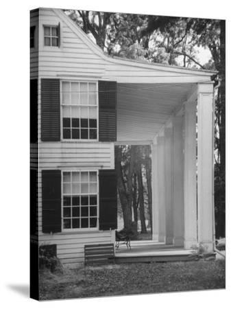 Exterior View of the House of Revolutionary War General Philip Schuyler, Hudson River Valley-Margaret Bourke-White-Stretched Canvas Print